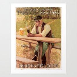 Plakat brasserie par actions Art Print