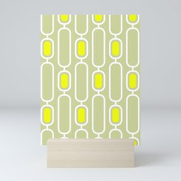 Lemon Shandy Retro 50s Geometric Pattern Mini Art Print