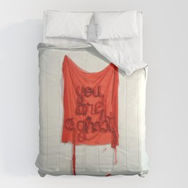 You Are A Ghost, The Unravel, Silk Graffiti by Aubrie Costello Comforters