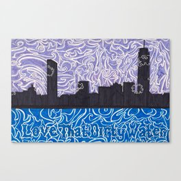 Love That Dirty Water Canvas Print