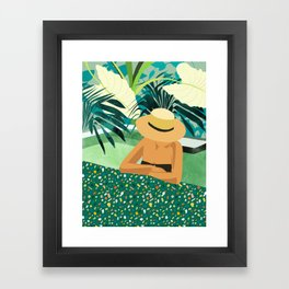 Chill #illustration #travel Framed Art Print