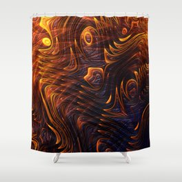 Lava Flow Abstract Shower Curtain