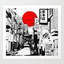 Tokyo street sunrise by monerty