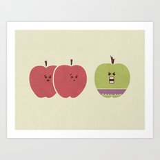 Green Apples Are Always Angry Art Print