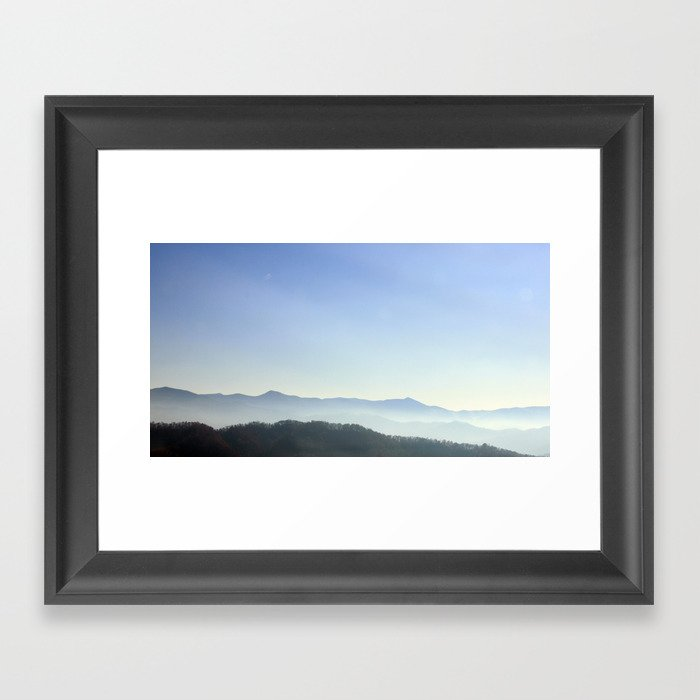 road to Asheville from Bristol Framed Art Print