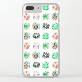 Woodland Creatures Wallpaper Clear iPhone Case