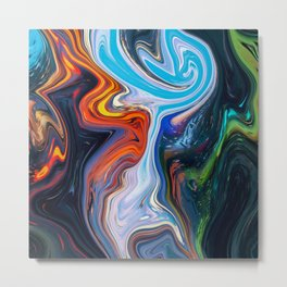 Lost In The Colour Metal Print