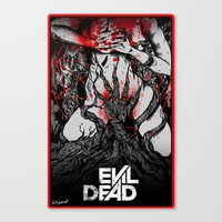 evil dead Canvas Prints featuring Evil Dead by FreddyInSpace