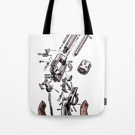 Exploded Gun Tote Bag