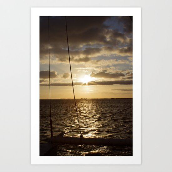 Sunset in NC Art Print