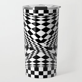 Twisted Checkers Travel Mug