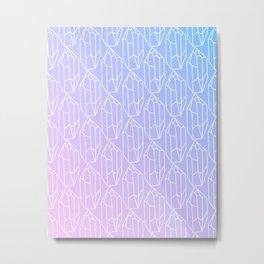 Crystal Pattern Metal Print
