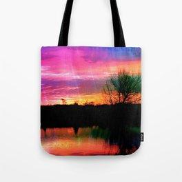 Watercolor January Texas Sunrise Tote Bag