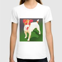 jack russell T-shirts featuring Jack Russell by CyberStar Media