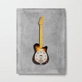The Reso-Tele Guitar Metal Print