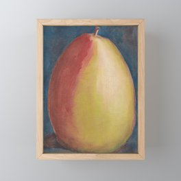 Pear Painting Framed Mini Art Print