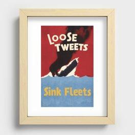 Loose Tweets Sink Fleets Recessed Framed Print