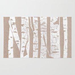 Woodcut Birches Rug