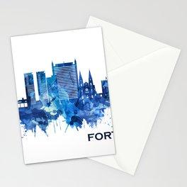 Fortaleza Brazil Skyline Blue Stationery Cards