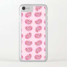 Paisley Watercolor in Rose Pink Clear iPhone Case