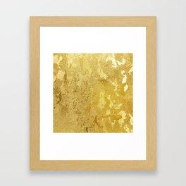 golden vintage Framed Art Print