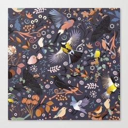 Tweet, tweet in the garden Canvas Print