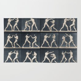 Time Lapse Motion Study Men Boxing Rug