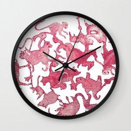 purple menagerie Wall Clock
