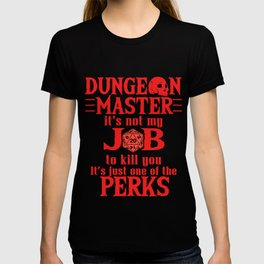 Tabletop Gaming Gift Dragons D20 Dice DM Gift Print T-shirt