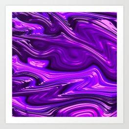 Purple Melt Art Print