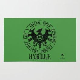 Agents of H.Y.R.U.L.E.   Black print variant Rug