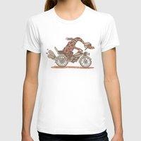 motorbike T-shirts featuring Giraffe on a motorbike by schäferhäst