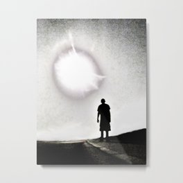 Thomas and the Moon Metal Print