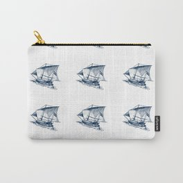 Nautical Marine Anchor Ship Seamless Pattern Carry-All Pouch