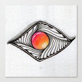 Doodled Gem Sparkle Eye Canvas Print