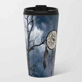 Black Bird Crow Tree Dream Catcher Night Moon A082 Travel Mug