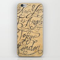 cities iPhone & iPod Skins featuring freehand cities by Vin Zzep