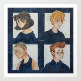 Raven Kids Art Print