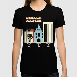 Cedar Rapids, Iowa Skyline T-shirt