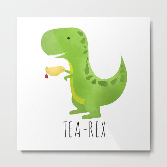 Tea-Rex Metal Print
