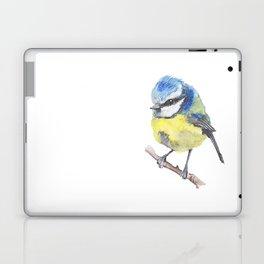 Fluffy Bluetit Laptop & iPad Skin