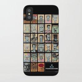 28 Blue Frankensteins iPhone Case