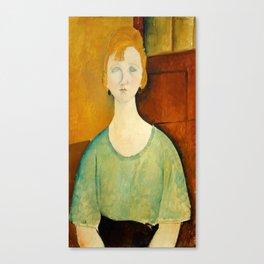 "Amedeo Modigliani ""Girl in a green blouse"" Canvas Print"
