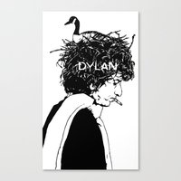 dylan Canvas Prints featuring Dylan by Sy Graham