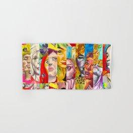 Female Faces Portrait Collage Design 1 Hand & Bath Towel