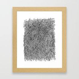 spaghetti texture Framed Art Print