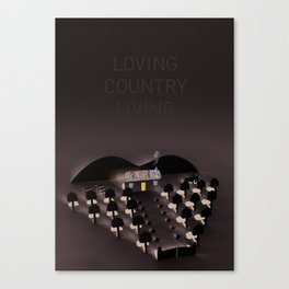 Loving country living Canvas Print