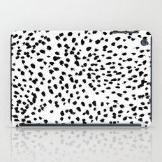 Nadia - Black and White, Animal Print, Dalmatian Spot, Spots, Dots, BW iPad Case