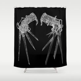 Scissorhandsc(Inverted) Shower Curtain