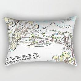 Sky Diving Peauts Rectangular Pillow